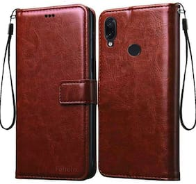 Ultimate Collection Polycarbonate Flip Cover For Redmi Note 7 Pro ( Brown )