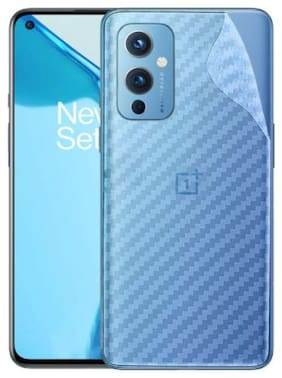Ultra Thin Clear Transparent 3D Carbon Fiber Back Screen Guard Protector for OnePlus 9