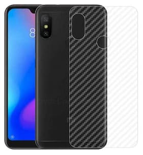 Ultra Thin Slim Fit  Clear Transparent 3D Carbon Fiber Back Skin Rear Screen Guard Protector Sticker Protective Film Wrap for  Redmi Note 6 Pro
