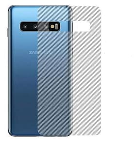 Ultra Thin Slim Fit Clear Transparent 3D Carbon Fiber Back Skin Rear Screen Guard Protector Sticker Protective Film Wrap  for Samsung Galaxy S10 Plus