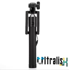 Ultralisk Compact Pocket Size Foldable Selfie Stick Wired for iPhone and Android Locust Aux Cable Monopod Premium Series