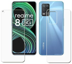 Unbreakable Flexible Hammer proof Impossible Film(5 Layer) Screen Protector Glass For Realme 8 5G [Front & Back ]