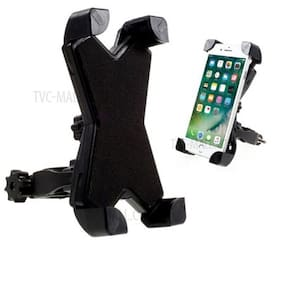 PASH Bike Phone Mount Holder, Universal Adjustable Bicycle Cell Phone Holder Cradle Stand Motorcycle Rack Handlebar Smartphone