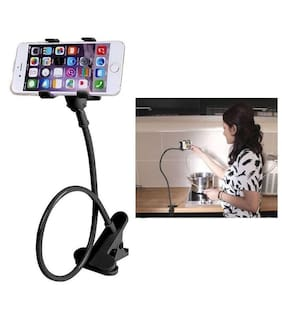 Universal Lazy Bed Desktop Car Stand Mount Holder For Cell Phone Long Arm (1Pc) Multicolor