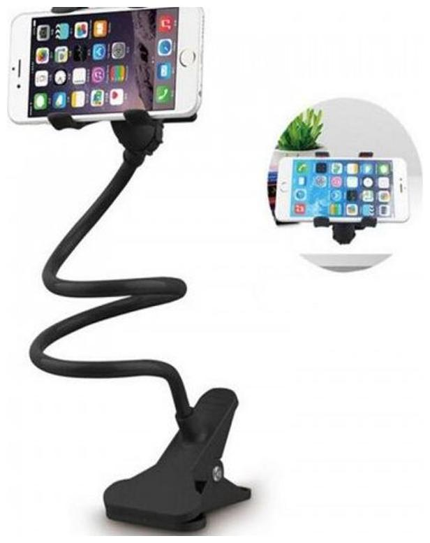 Universal Long Lazy Bed Desktop Car Stand Mount for Cell Phone Car Mobile Holder by Chander Trading