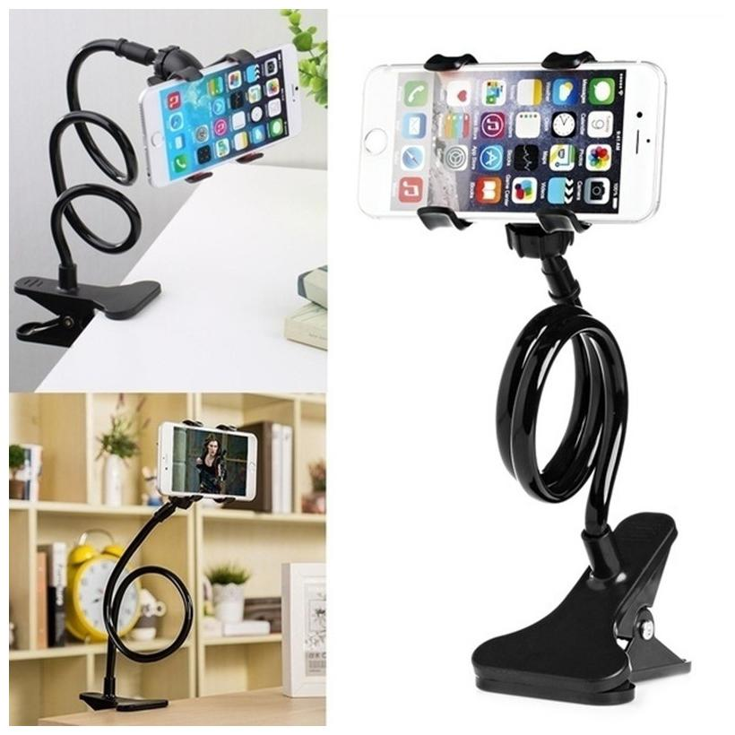 Universal Long Lazy Bed Desktop Car Stand Mount for Cell Phone Car Mobile Holder  1Pc  Multi Color by Shubham Ads