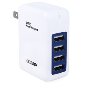 US Plug Wall Charger 4 USB Ports Charging Adapter for Travel Home