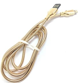 - USB 2.0 Type Data Cable - LIGHT GOLD - 1 Meter- 480 Mbps Transfer Speed with Zinc Metal Shell and Slim Connector