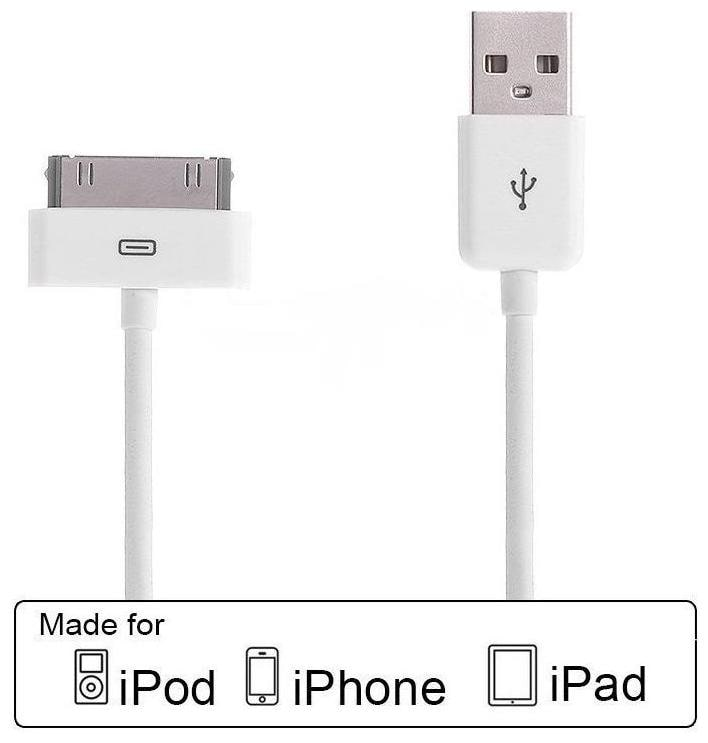 USB Data Sync   Charge Cable for Apple iPhone 4 / 4S | iPod | iPad 1 / 2 / 3.