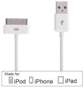 USB Data Sync & Charge Cable for Apple iPhone 4 / 4S | iPod | iPad 1 / 2 / 3.