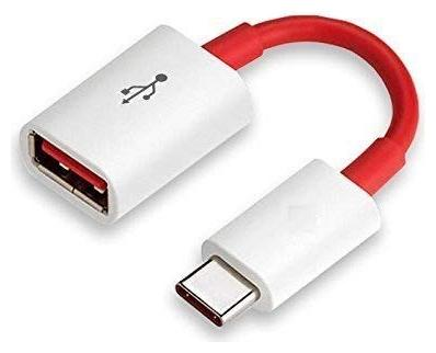 USB Type C OTG Cable For All Type C Supported Smartphones  White and Red