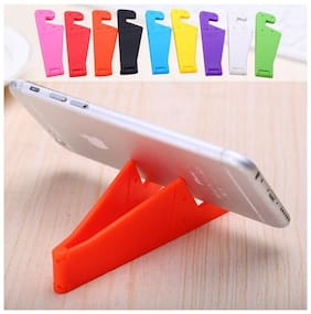 V Shape Foldable Mobile Phone Plastic Stand Holder for All smartphones & Tablets