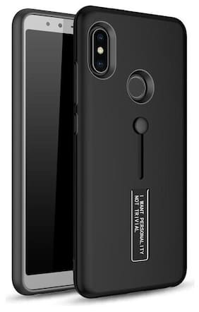 v signature Case With Stand For Redmi Note 5 Pro (Black)