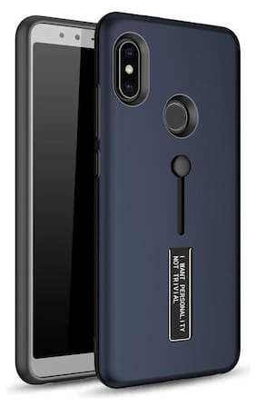 v signature Case With Stand For Redmi Note 5 Pro (Blue)