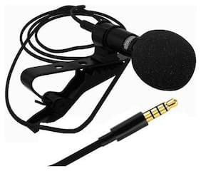 VAIRO 3.5mm Clip Microphone For Youtube, Collar Mike For Voice Recording, Lapel Mic