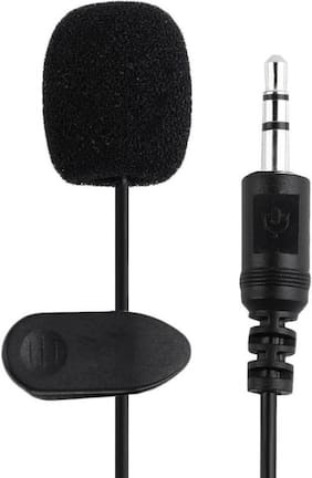 VARIPOT 3.5mm Clip Microphone For Youtube, Collar Mike For Voice Recording, Lapel Mic Mobile, Pc, Laptop, Android Smartphones, DSLR Camera