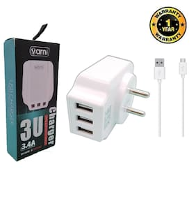 CAPNICKS 3.4 A Fast Charging Wall Charger - 3 USB Ports