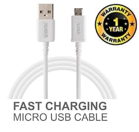 Varni Exclusive Universal USB Micro High Speed Charging & Data Sync Cable for Oppo Real ME 1 (White)