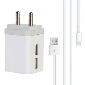 Vaultronix 3.1 Amp Wall Charger With iPhone (8 Pin Lightning) Charging Data Cable