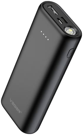 VEGER W1080 10000 mAh Power Bank - Black