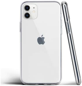 VESSHIC Silicone Back Cover For Apple iPhone 11 ( Transparent )