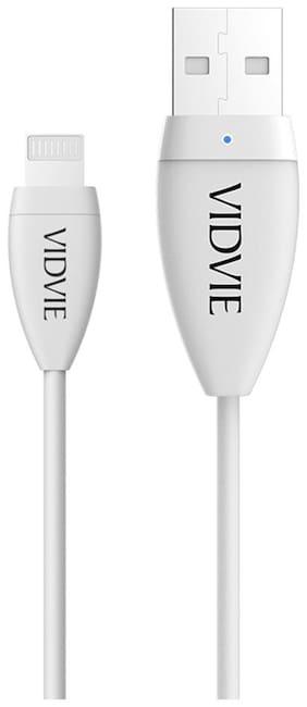 Vidvie CB402 iPhone  USB Cable White
