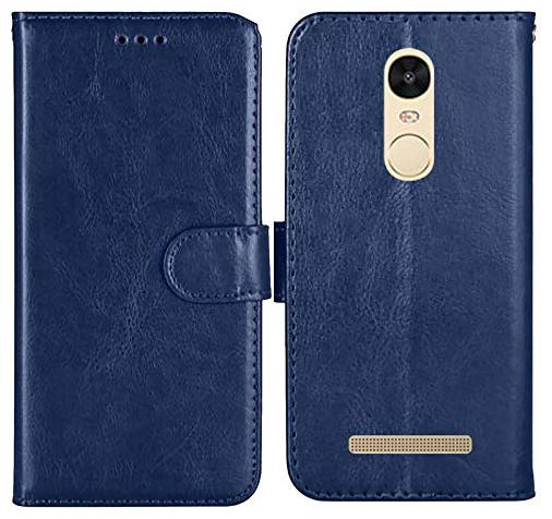 Mi Redmi Note 3 Leather Flip Cover By EXOTIC FLOURISH   Blue   by Exotic Flourish