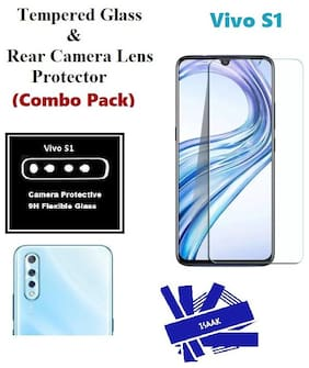 Vivo S1 Tempered Glass & Rear Camera Lens Protector (Combo Pack)