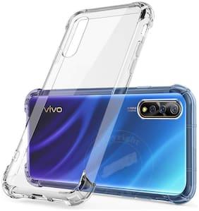 Vivo S1/Vivo Z1X Bumper corners 12D Soft Case Back Cover In Transparent(Rubber & Silicone)