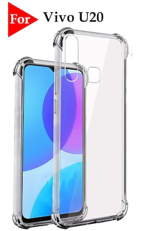 Vivo U20 HD Clear Bumper Shockproof Corner Back Cover Transparent(Air Cushion Technology)