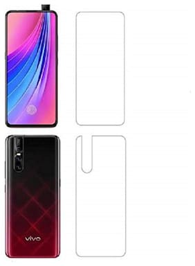 Vivo V15 Pro (Front & Back) Hammer Proof Unbreakable Nano Film Impossible Screen Protector Screen Guard.{Not a Tempered Glass} Designed for Vivo V15 Pro (Front & Back)