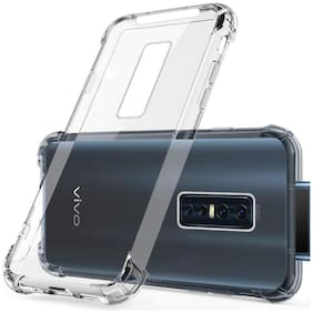 BIG CAT Rubber Back Cover For Vivo V17 Pro ( Transparent )