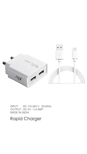 Vivo V9  Y71  V7  V7+  Y69  V5s  Y53  Y66  Y55s  V5  Y55L  Y21L  Y51L Compatible Travel Charger  Mobile Charger With Micro USB Cable By TBZ