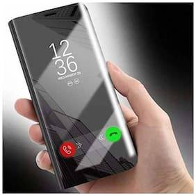 Vivo Y12, VIVO Y15, VIVO Y17   Electroplate Plating Mirror Acrylic Full Body Protective Leather Flip Case  (BLACK, Dual Protection)