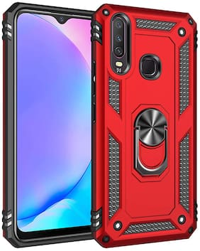 Vivo Y15 Robot Series Cover Scratch Free Slim Bumper Shock Proof with Stand