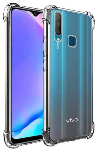 VIVO Y15 Soft Flexible Shockproof Bumper Transparent Back Case Cover