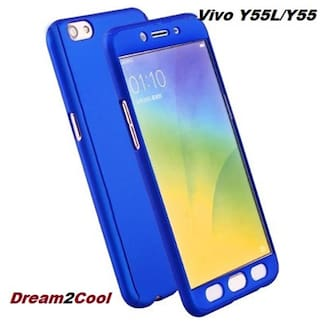finest selection d23be 586f3 Vivo Y55/Y55L/Y55s 360 Degree Ipaky-Full Body Protection (Front Back Temper  Glass) Case Cover ,Blue