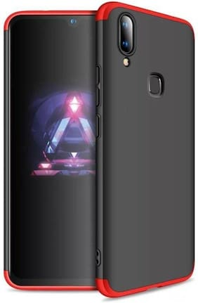 shopyholik Polycarbonate Back Cover For Vivo Y95 ( Black & Red )