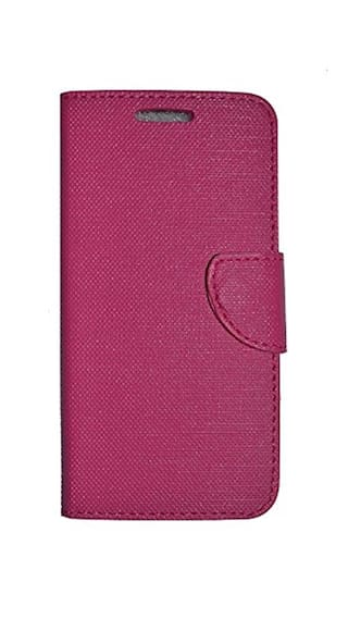 the latest 6b419 becfe VKR Case Flip Cover For Reliance Jio LYF Water 8 - Pink