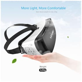 Tech Gear VR Box with In Built Bluetooth Remote Control for Iphone and Android Smartphones