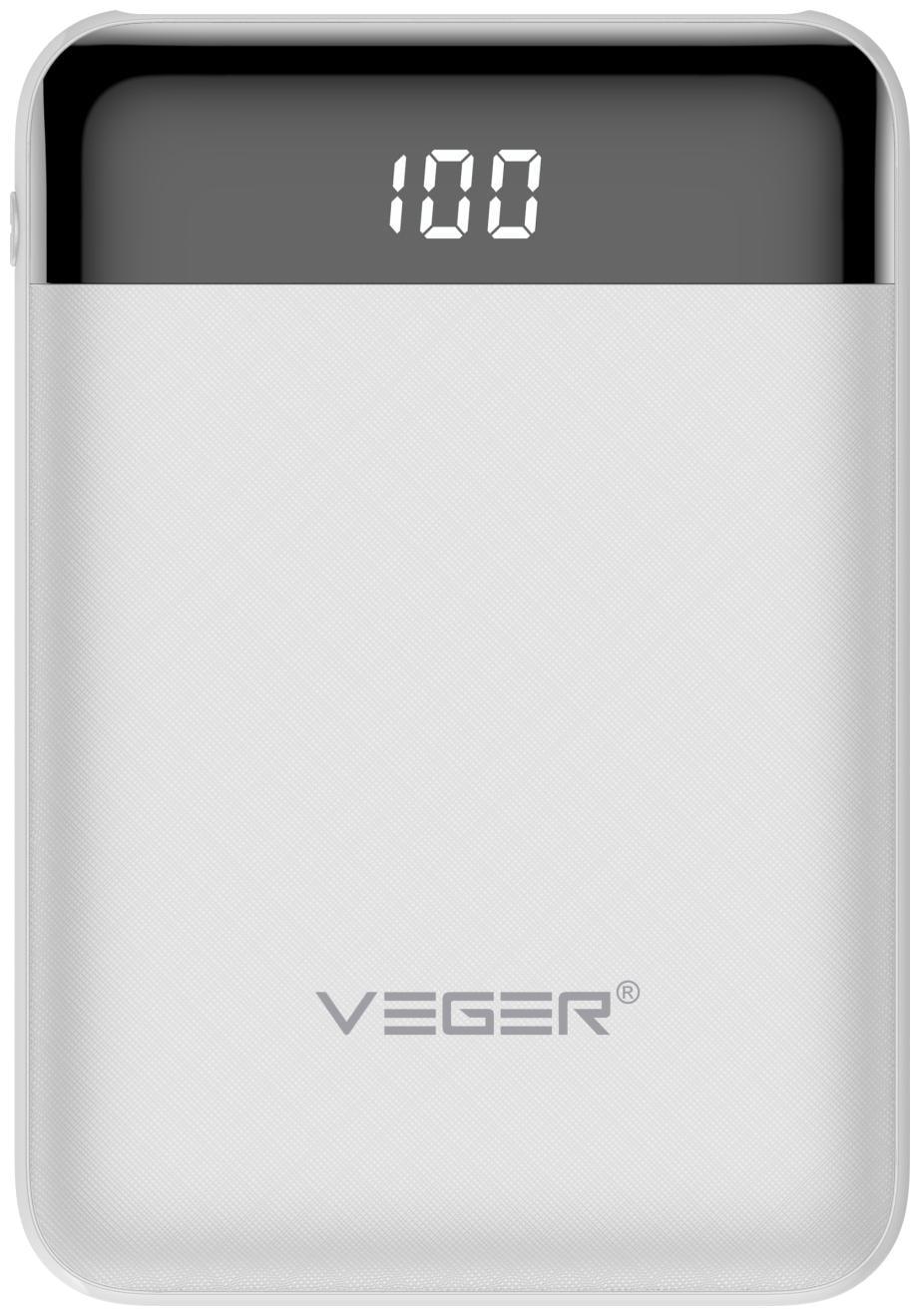 VEGER W1049 10000 mAh Power Bank   White