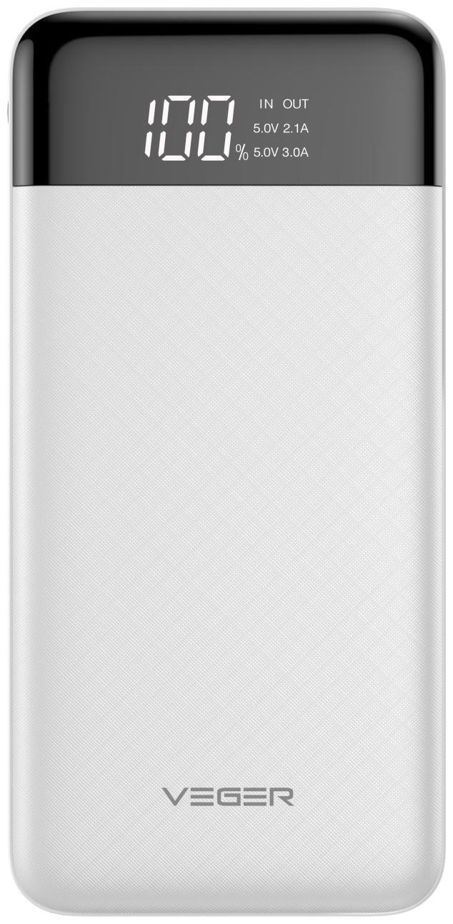 VEGER W1056 10000 mAh Power Bank   White