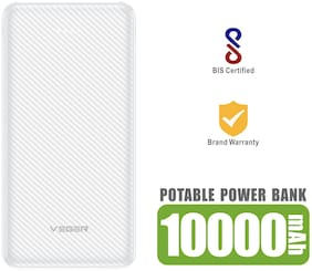 VEGER W1059 10000 mAh Power Bank - White