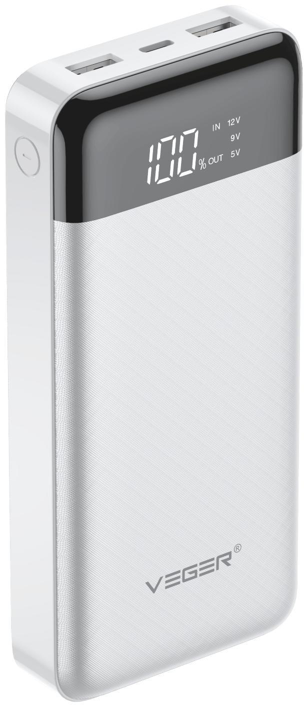 VEGER W2016 20000 mAh Power Bank   White