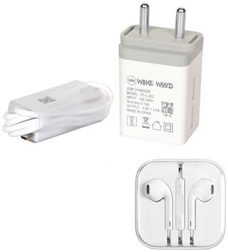 Wake Wood Wall Charger - 1 USB Port