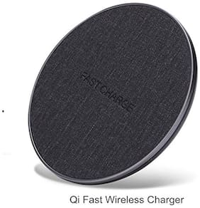 WeCool Wireless Charging Pad for iPhone, Samsung and All Qi Enabled and Qi Integrated, Compatible Smart Phones (Grey)