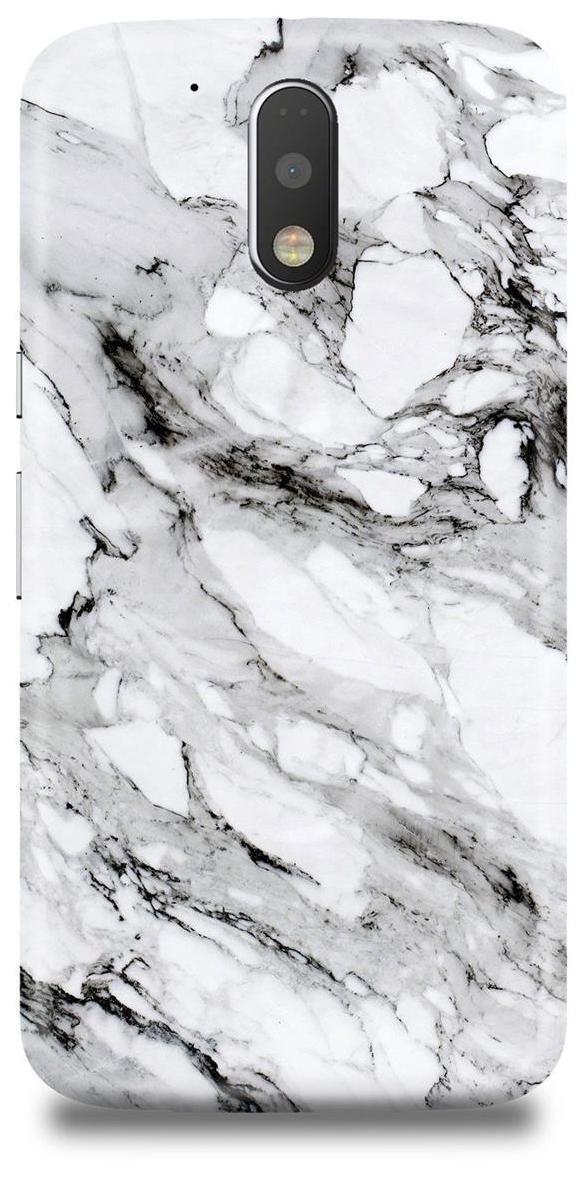 White   Black Marble Moto G4/G4 Plus Case by Shop Metro
