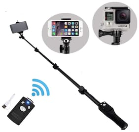 Wireless Bluetooth Mono pod Selfie Stick for Mobile Phones and Action Cameras Best for Outdoors and Indoor