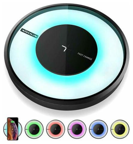 Wireless Charger, Nillkin Qi Certified Fast Wireless Charging Pad 7.5W Colorful