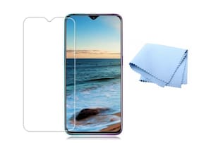 Wolfano 5D Oppo F9 Pro Tempered Glass Screen Protector Full Glue Edge to Edge Fit 9H Hardness Bubble Free Anti-Scratch Crystal Clarity 5D Curved Screen Guard